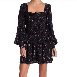 NWT Free People Two Faces dress black combo (J70+)